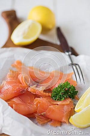 Simply smoked salmon