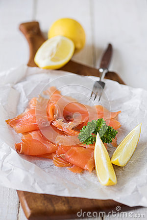Simply smoked salmon