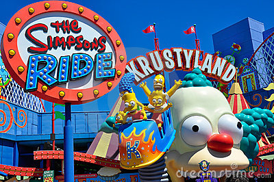 The Simpsons Ride Editorial Photography