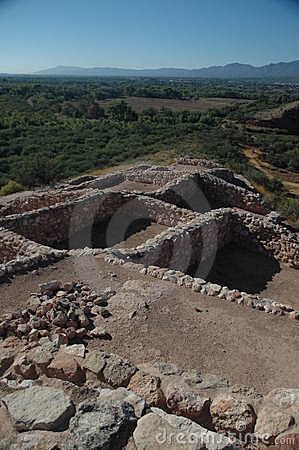 Sinagua indian ruins at Tuzigoot