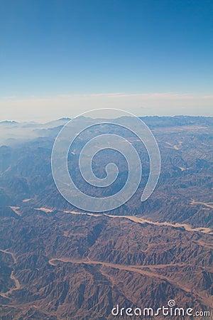 Sinai desert, mountains and skies
