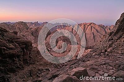 Sinai dusk