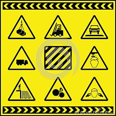 Sinais de aviso 1 do perigo