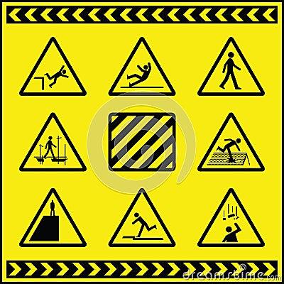 Sinais de aviso 4 do perigo