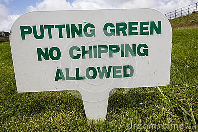 Sinais do campo de golfe