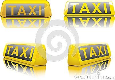 Sinal alemão do táxi