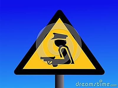 Sinal armado do protetor de segurança