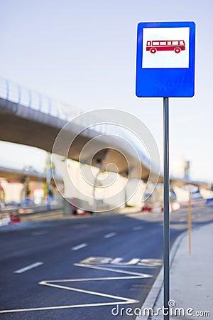 Sinal da estação de autocarro