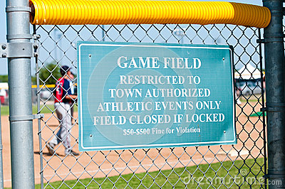 Sinal da limitação do basebol