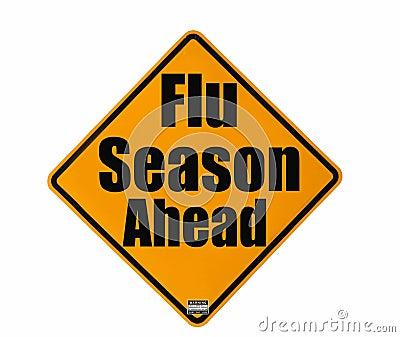 Sinal de aviso da estação de gripe