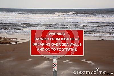 Sinal de aviso dos mares elevados