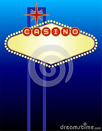 Sinal do casino de Vegas