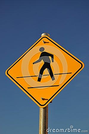 Sinal do cruzamento de pedestre