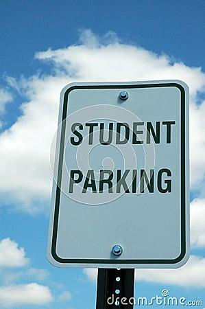 Sinal do estacionamento do estudante
