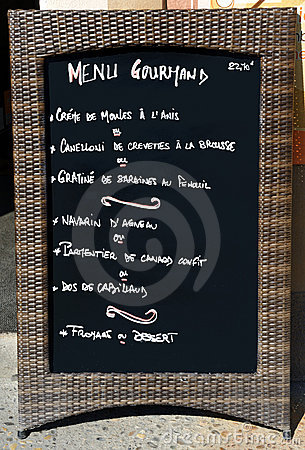 Sinal do menu