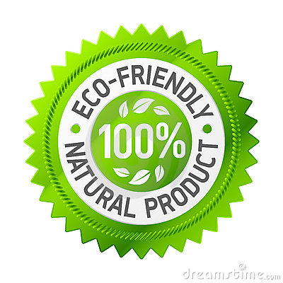 Sinal do produto eco-friendly. Vetor.