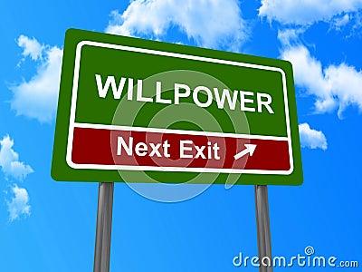 Sinal seguinte da saída da força de vontade