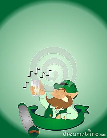 Sing a folk song, to the lucky Irish man....