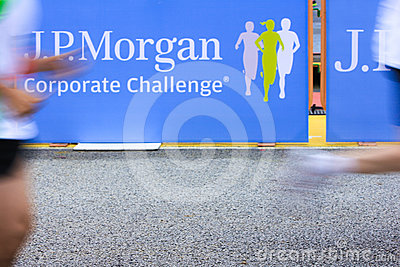 Singapore - 19 April 2012; J.P. Morgan Run Corporate Challenge Editorial Stock Photo