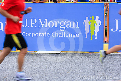 Singapore - 19 April 2012; J.P. Morgan Run Corporate Challenge Editorial Photography