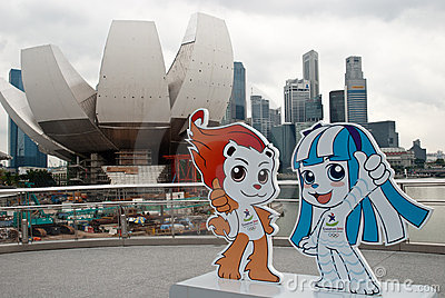 SINGAPORE 2010 YOUTH OLYMPIC GAMES: mascots Editorial Stock Photo