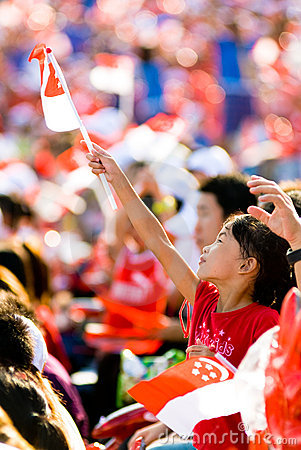 Singapore 43rd National Day Editorial Image