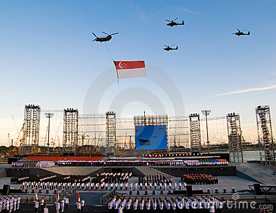 Singapore 43rd National Day Editorial Stock Photo