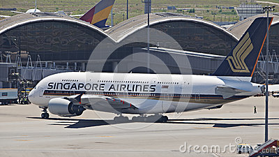 Singapore Airline A380 Editorial Photography