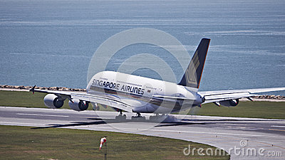 Singapore Airline A380 Editorial Photo