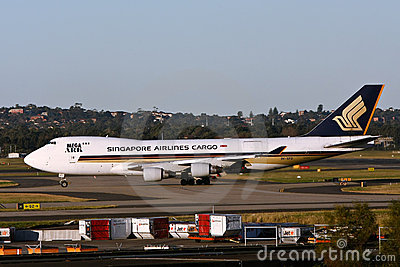 Singapore Airlines 747 Cargo jet Editorial Stock Image