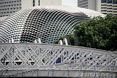 Singapore:  Anderson Bridge and Esplanade Theatres