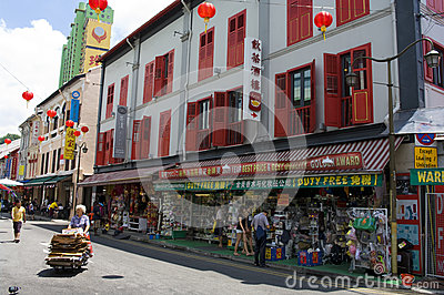 Singapore Chinatown Obraz Editorial