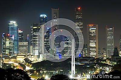 Singapore bij nacht