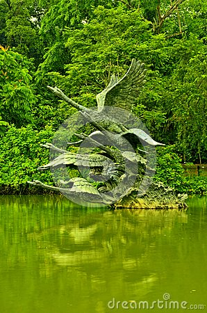 Singapore Botanic Gardens, Swan Lake Sculpture