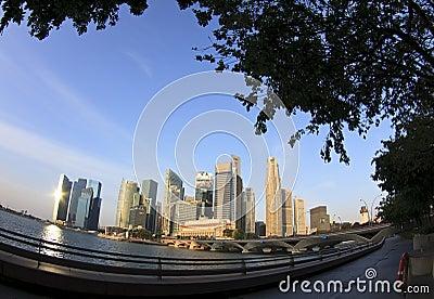 Singapore CBD Editorial Image