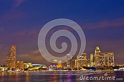 Singapore CBD Area Editorial Stock Photo
