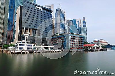 Singapore CBD in Panorama