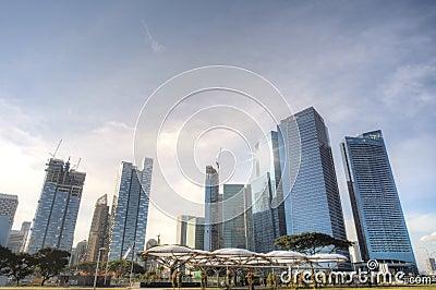 Singapore CBD skyline Editorial Stock Image