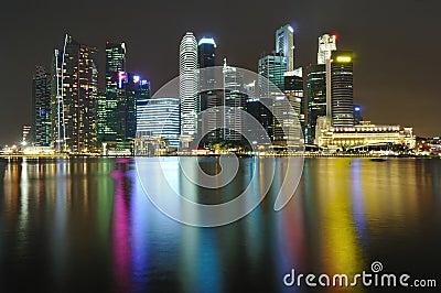 Singapore CBD Skyline at night