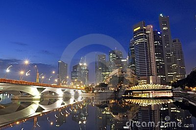 Singapore CBD, Urban Landscape Editorial Stock Photo