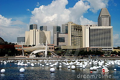 SINGAPORE: Center City Skyline Editorial Stock Photo