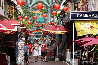 Singapore Chinatown Editorial Stock Photo