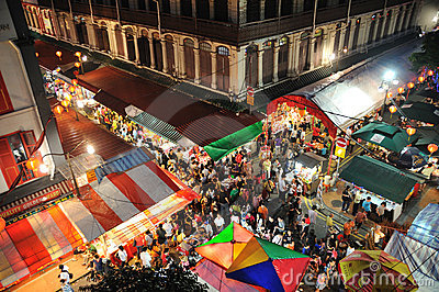 Singapore chinatown Editorial Image