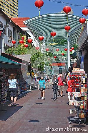 Singapore Chinatown Editorial Photo