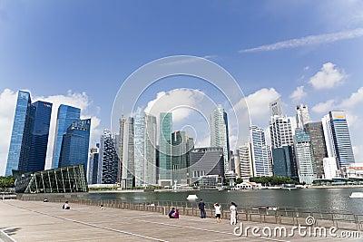 Singapore city Editorial Stock Photo