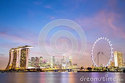 Singapore city downtown