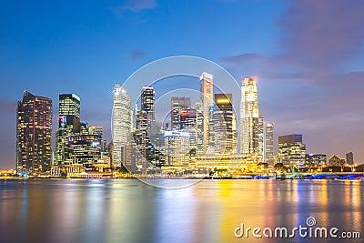 Singapore city dusk