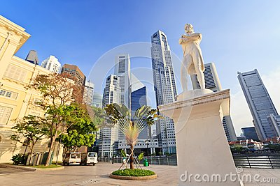 Sir Stamford Raffles statue - Singapore