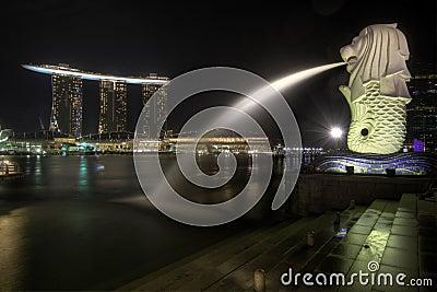 Singapore City Skyline at Merlion Park 2