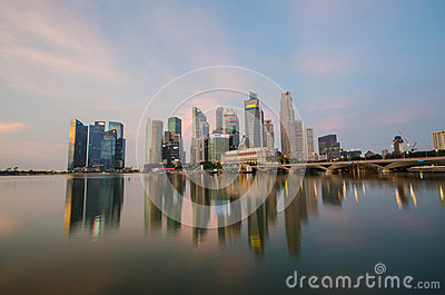 Singapore city skyline view of business district Editorial Photo
